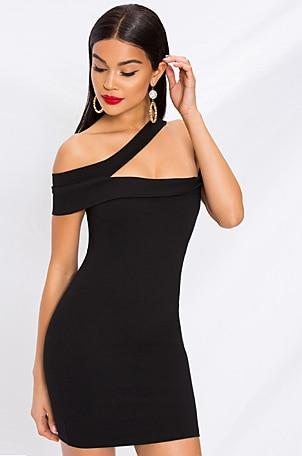 Linda Asymmetric Bodycon Dress