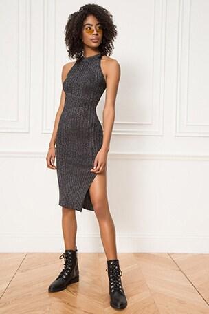 Lizzie Lurex Knit Midi Dress