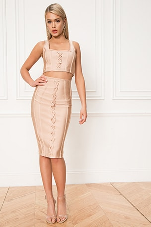 Ryann Bandage Skirt Set