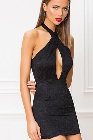 Gabrielle Lace Mini Dress
