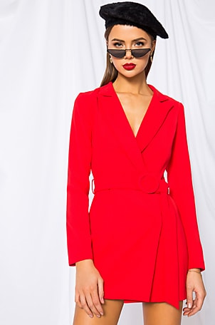 Joan Belted Blazer Dress