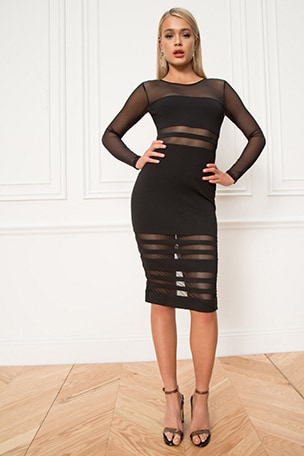 Magdalena Mesh Midi Dress