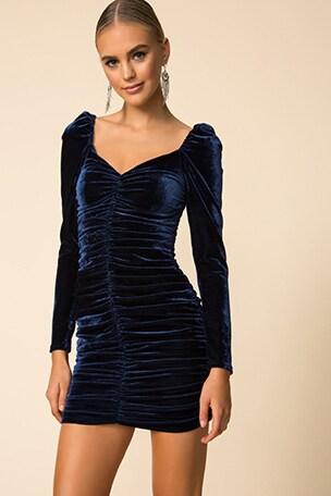 Neva Velvet Ruched Dress