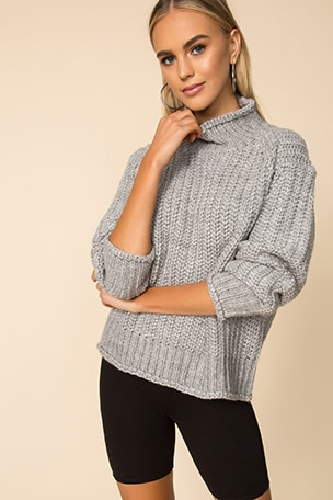 Stevie High Neck Knit Sweater