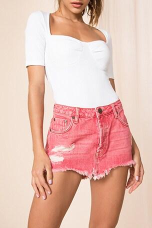 Junkyard Relaxed Mini Skirt