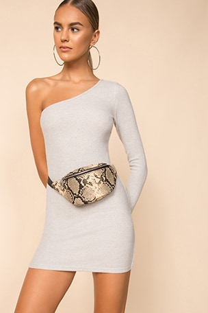 Mila One Shoulder Sweater Dress