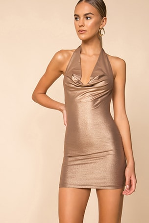 Tatum Drape Halter Dress