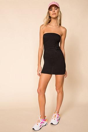 Ally Strapless Denim Dress