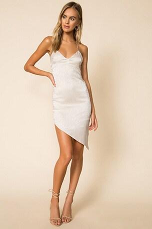 Alissa Asymmetrical Midi Dress