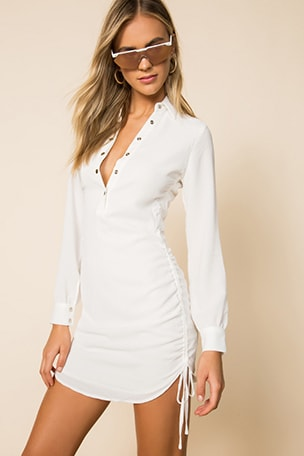 Maimie Ruched Side Dress