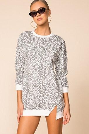 Tarina Zip Sweatshirt Dress