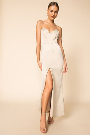 Courtney Strapless Maxi Dress