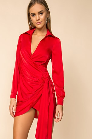 Sophie Draped Mini Dress