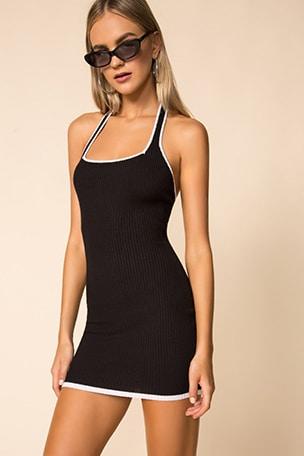 Eva Halter Rib Dress