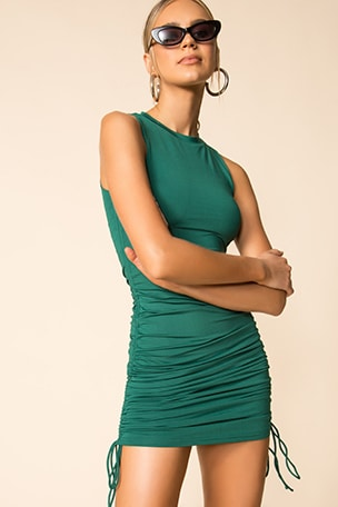 Cory Ruched Side Dress