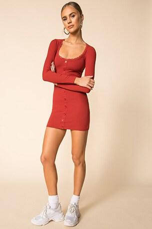 Amalia Button Front Dress