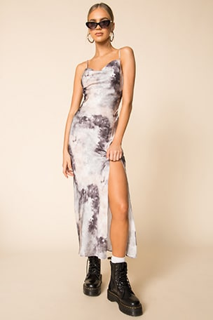 Krystal Slit Maxi Dress