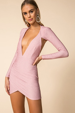 Hazel Deep V Dress