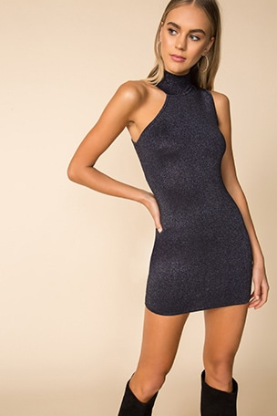 Luz Metallic Dress