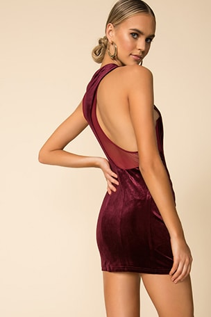 Grazia Scoop Back Dress