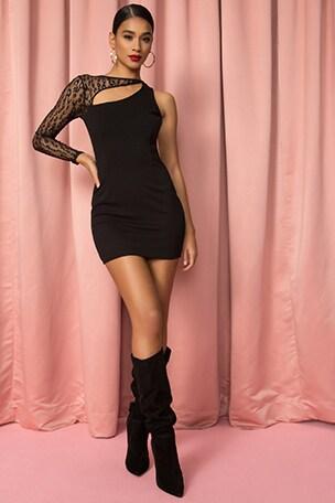 Luann Asymmetrical Mini Dress