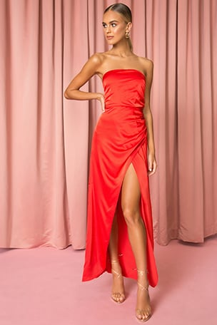 Loren Strapless Maxi Dress