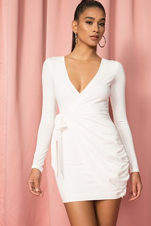 x Draya Michele Sierah Jersey Wrap Dress