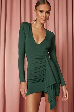 Martyna Deep V Dress