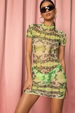 Sana Mesh Mini Dress