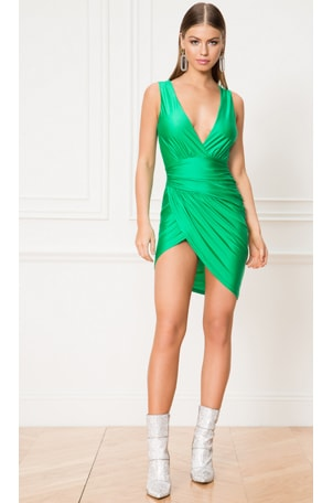 Roa Ruched Wrap Dress