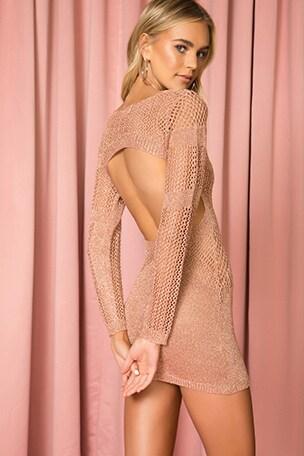 Nuri Crochet Mini Dress