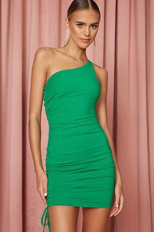 Meena One Shoulder Dress