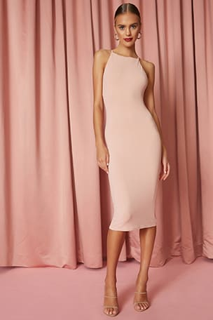 Safia Open Back Midi Dress
