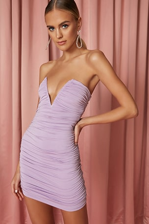 x Draya Michele Vivienne Ruched Mini Dress