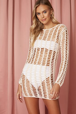 Miranda Crochet Mini Dress