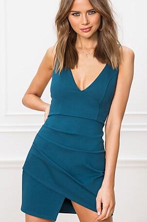 Wendy Surplice Mini Dress
