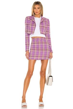 Dione Blazer Skirt Set