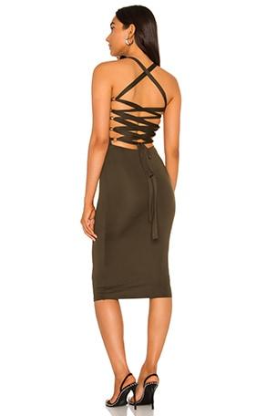 Yvonne Laced Back Midi Dress
