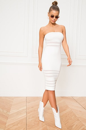Magdalena Tube Mesh Dress