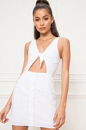 Elsie Tie Front Dress