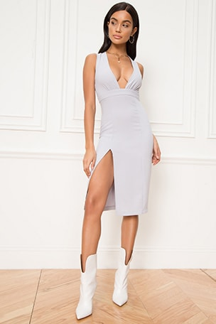 Rayhana High Slit Dress