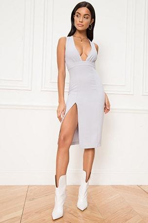 Rayhana High Slit Dress