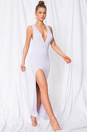 Erika Deep V Jersey Maxi