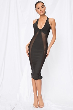 Nicole Keyhole Bodycon Dress
