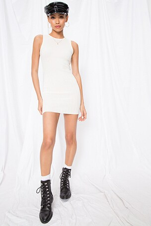 Rebecca Ribbed Mini Dress