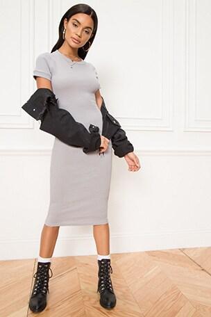 Betti Ribbed Midi Dress