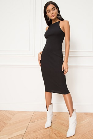 Katy Ribbed Midi Dress