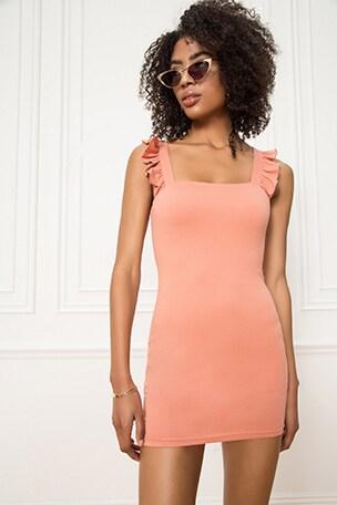 Imari Ruffle Strap Dress