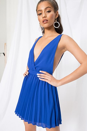 Sharona Pleated Mini Dress