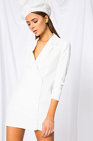 Armida Button Blazer Dress